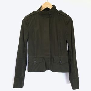 Theory deep green military lightweight jacket